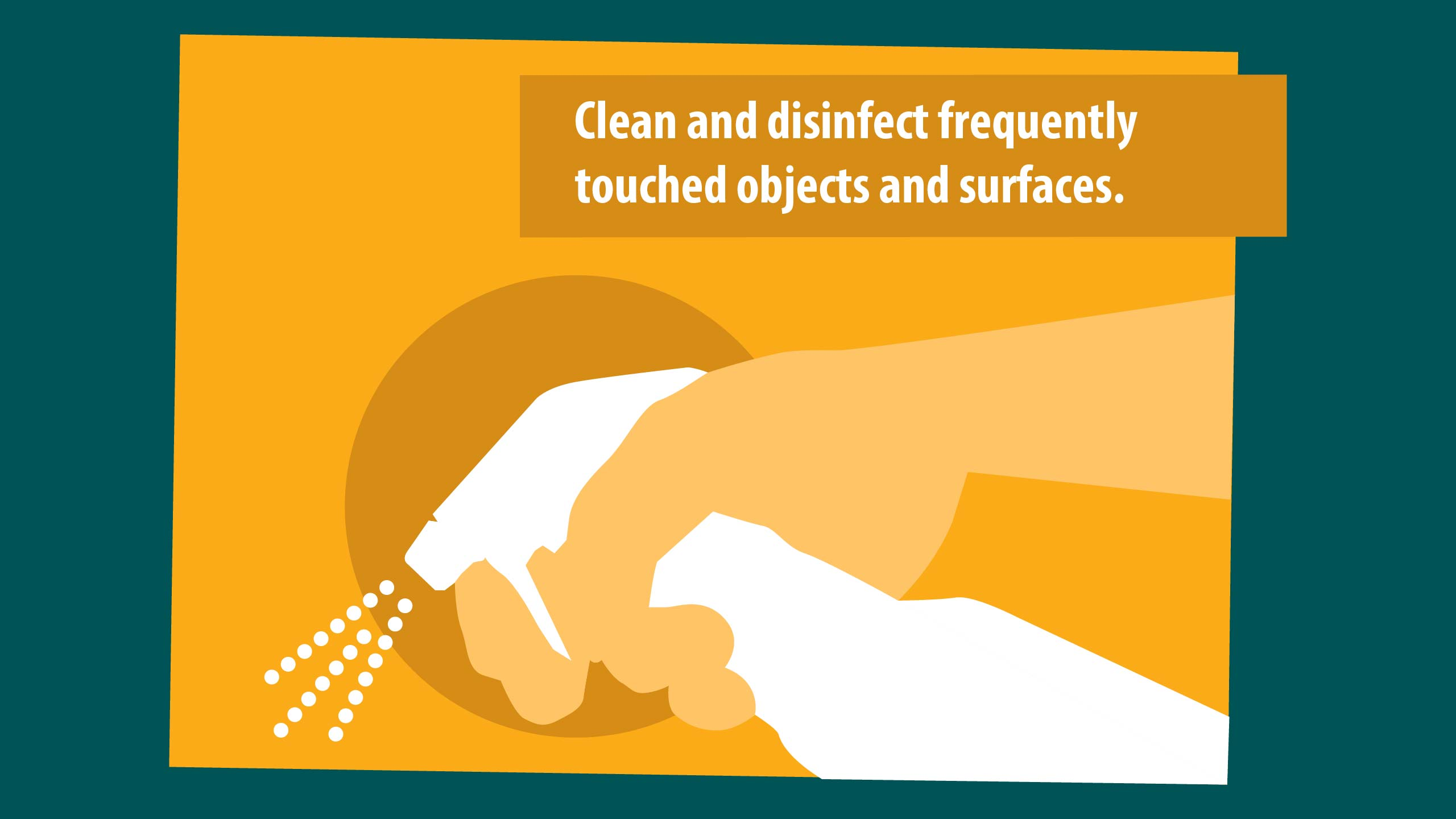CLEAN AND DISINFECT GRAPHIC